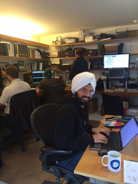 Angad at work
